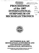 Proceedings of the 1987 International Symposium on Microelectronics