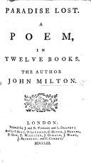 Paradise Lost. A poem, etc. (The Life of Mr. John Milton [by Elijah Fenton].).