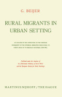 Pdf Rural migrants in urban setting Telecharger