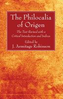 Pdf The Philocalia of Origen Telecharger