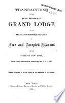 Proceedings Of The Grand Lodge Of Free And Accepted Masons Of The State Of New York Book PDF
