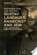 Gustav Landauer Anarchist And Jew