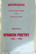 Spanish poetry  1939 1989
