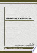Material Research and Applications Book