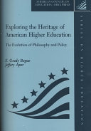Exploring The Heritage Of American Higher Education