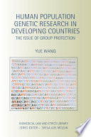 Human Population Genetic Research in Developing Countries Book