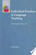 Individual Freedom In Language Teaching