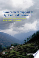 Government Support to Agricultural Insurance