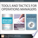 Tools and Tactics for Operations Managers  Collection  Book
