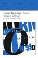 Doing Rhetorical History Book