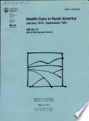 Health Care in Rural America Book PDF