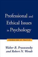 Professional and Ethical Issues in Psychology Book