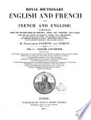Royal Dictionary English And French And French And English Book