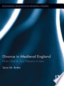 Divorce In Medieval England
