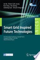 Smart Grid Inspired Future Technologies Book PDF