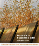 Pdf Materials for Sustainable Sites Telecharger