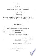 A New  Practical and Easy Method of Learning the German Language Book
