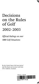 Decisions On The Rules Of Golf 2004 2005