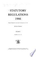 Statutory Regulations