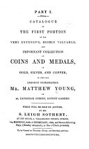 Catalogue     of the     Collection of Coins and Medals