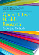 Ebook Quantitative Health Research Issues And Methods