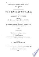 The Rauzat us safa  v  1 2  The histories of prophets  kings  and khalifs Book PDF