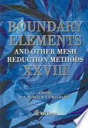 Boundary Elements and Other Mesh Reduction Methods Twenty-eight