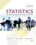 Statistics for Management and Economics   XLSTAT Bind in