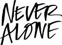 Never Alone  Black Cover