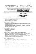 Scripta Medica Facultatis Medicae Universitatis Brunensis Masarykianae