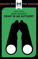 Michel Foucault's What is an Author?