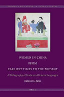 Pdf Women in China from Earliest Times to the Present