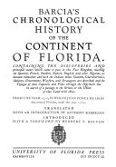 Chronological History of the Continent of Florida
