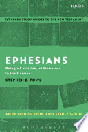 Ephesians An Introduction And Study Guide