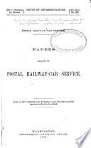 Postal Railway Car Service