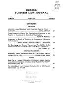 Depaul Business Law Journal