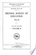 Biennial Survey Of Education In The United States