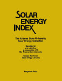 Solar Energy Index Pdf/ePub eBook