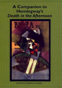 Pdf A Companion to Hemingway's Death in the Afternoon