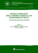 General Principles For A Common Criminal Law Framework In The Eu A Guide For Legal Practitioners