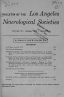 Bulletin of the Los Angeles Neurological Societies