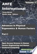 Advances In Physical Ergonomics And Human Factors Part I Book PDF