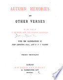 Autumn Memories and Other Verses Book
