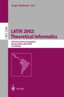 LATIN 2002  Theoretical Informatics