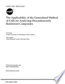 The Applicability Of The Generalized Method Of Cells For Analyzing Discontinuously Reinforced Composites Book PDF