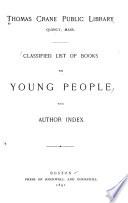 Classified List of Books for Young People