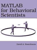 MATLAB for Behavioral Scientists