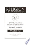 Religion, a Human Phenomenon