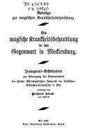 Die magische Krankheitsbehandlung in der Gegenwart in Mecklenburg