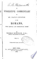 A Suggestive Commentary On St Paul S Epistle To The Romans